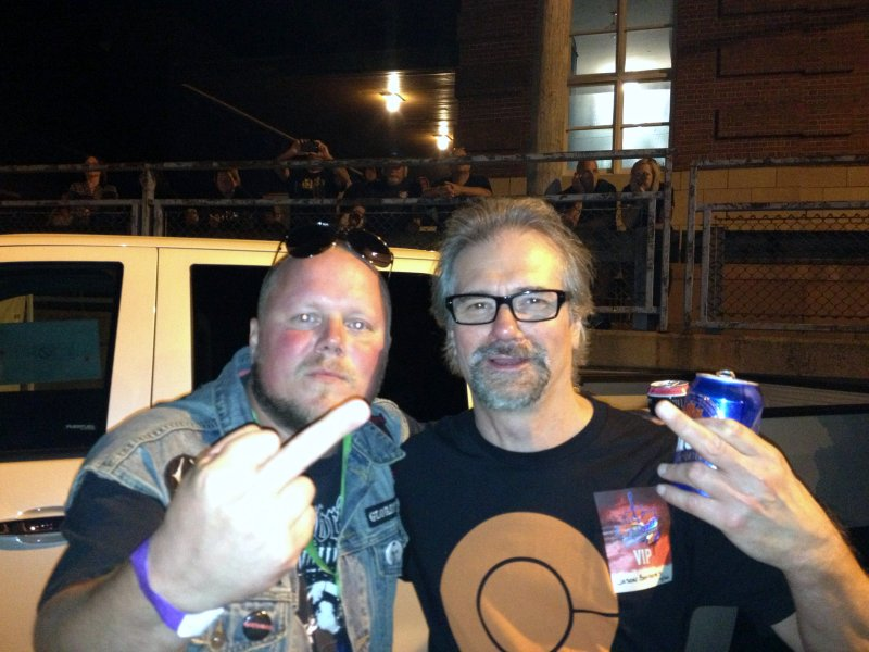 Slick fan at Lockport concert 2013